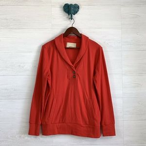 Banana Republic Red Cowl Neck Front Pocket Sweater